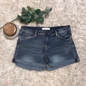 Eunina low rise cuffed shorts from Francesca's
